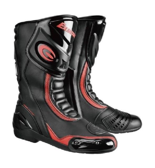 長筒車靴 E-SBR2101 黑紅