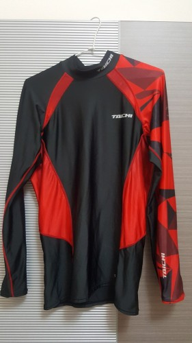 RS TAICHI Cool Ride彈性伸縮圖型內穿衣 SPRINTER RED 3XL