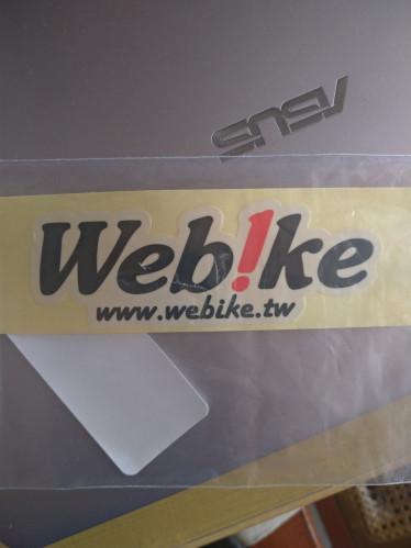 Web!ke LOGO 貼紙 - 透明| Webike摩托百貨