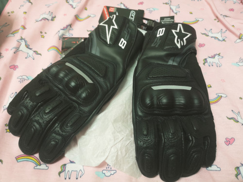 SP-8 V2 GLOVES 皮革防摔手套 (黑)| Webike摩托百貨