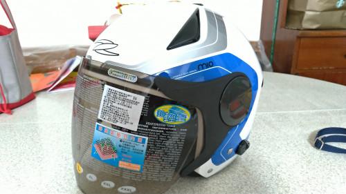 【OUTLET出清商品】ZS-612A AD4 白-藍色 四分之三安全帽| Webike摩托百貨