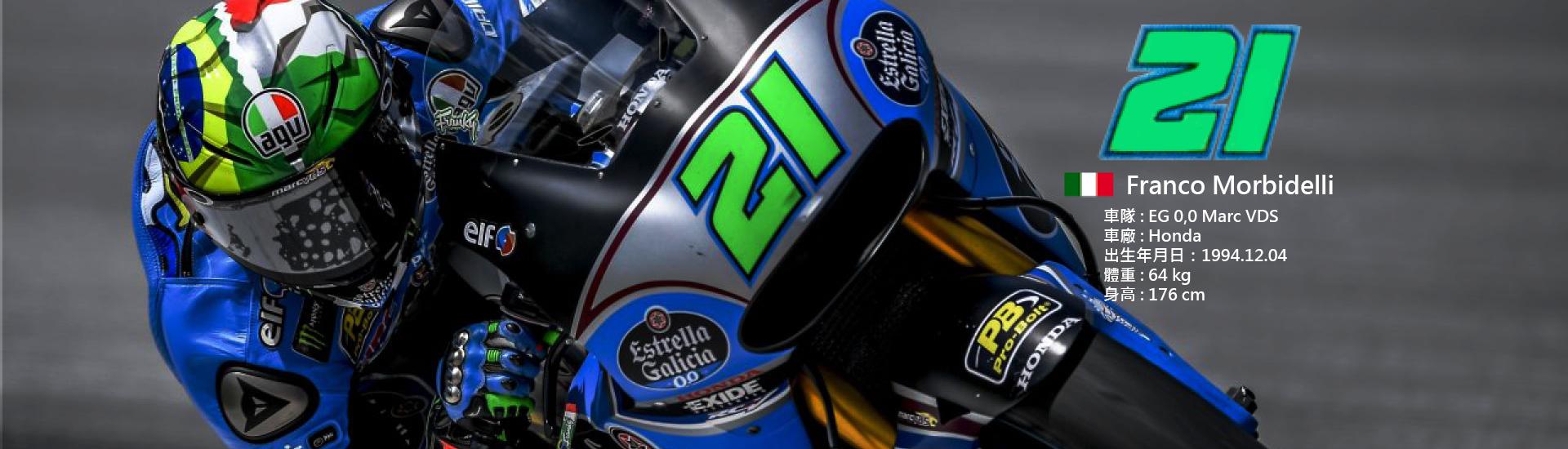 2018 MotoGP 【21】Franco Morbidelli